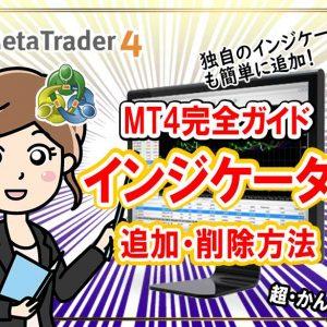 MT4のインジケーターの追加方法と削除方法。